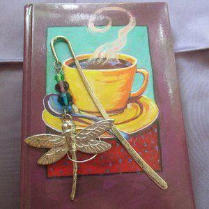 Firefly Bookmarker, Glass Beads Silvertone